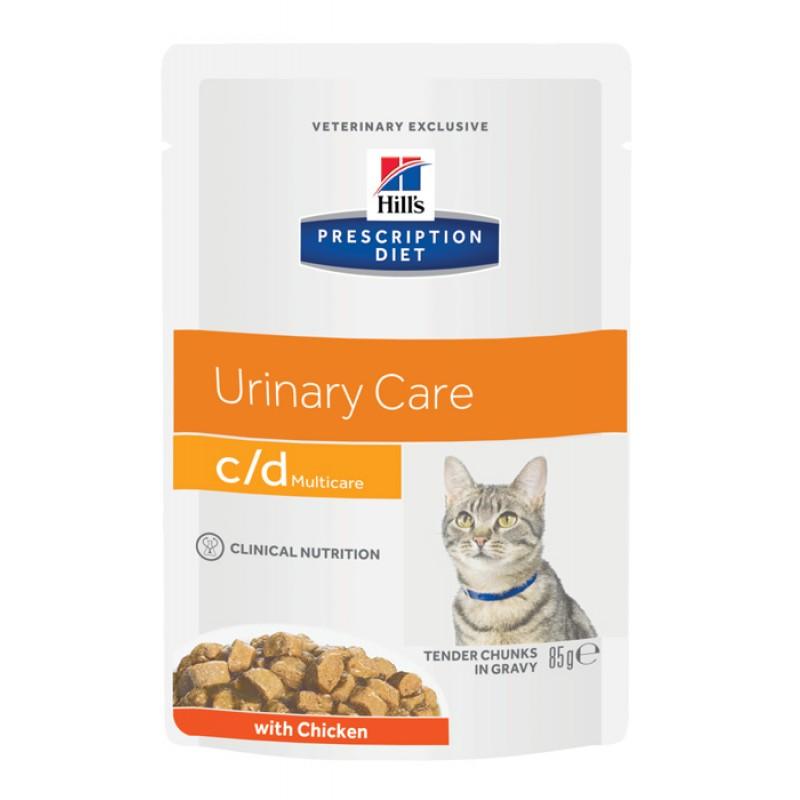Влажный корм Hills Prescription Diet c/d Feline with Chicken Pouch Pouch диета для кошек 0,085 кг