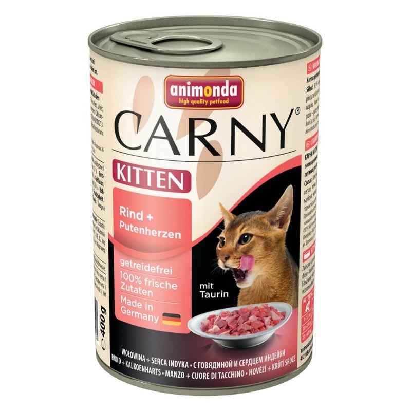 Влажный корм для котят Animonda Carny Kitten Beef and Turkey hearts 0,4 кг
