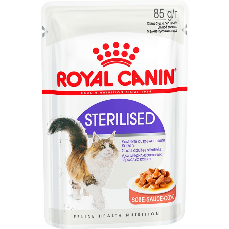 Влажный корм для кошек Royal Canin Sterilised в соусе 0,085 кг