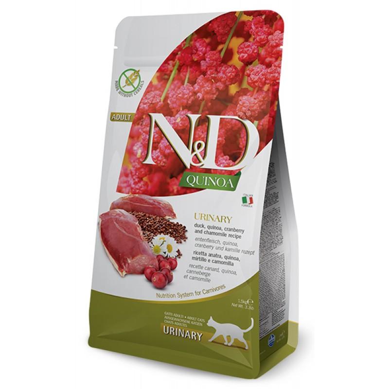 Сухой корм для кошек Farmina N&D Quinoa Urinary беззерновой с уткой и киноа 1,5 кг