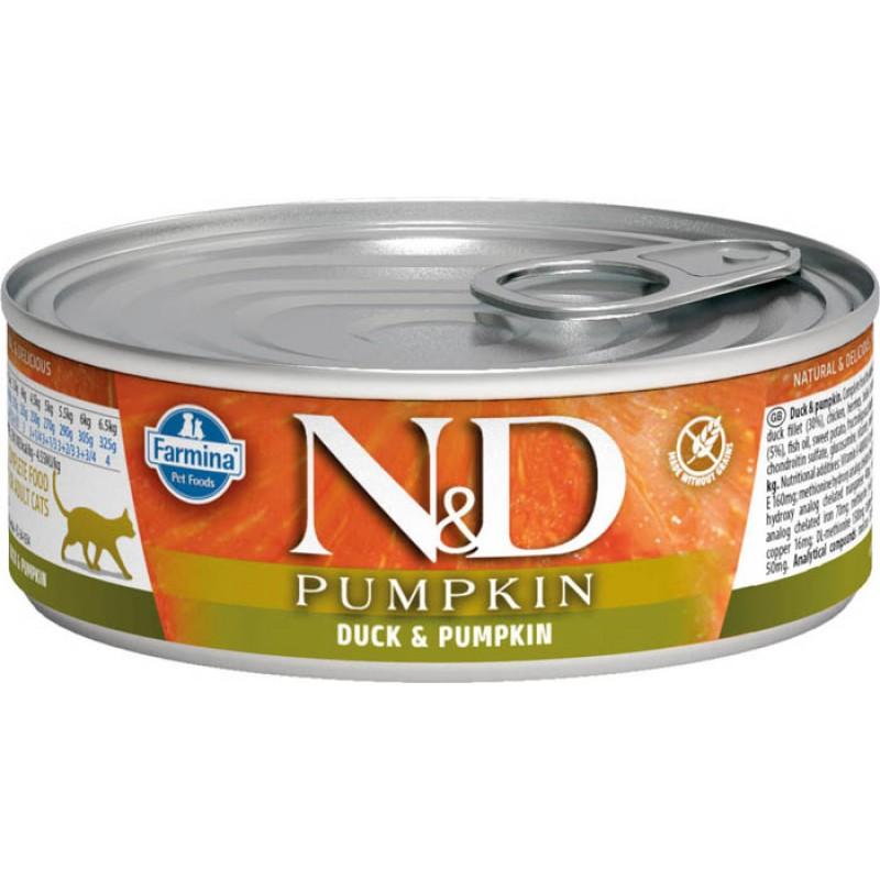Влажный корм для кошек Farmina N & D Duck & Pumpkin с уткой и тыквой 0,08 кг