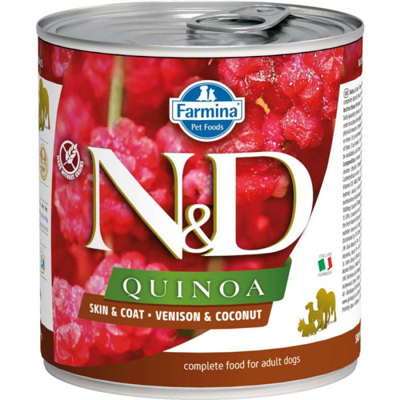 Влажный корм для собак Farmina N & D Quinoa Venison & Coconut с олениной, киноа и кокосом 0,285 кг
