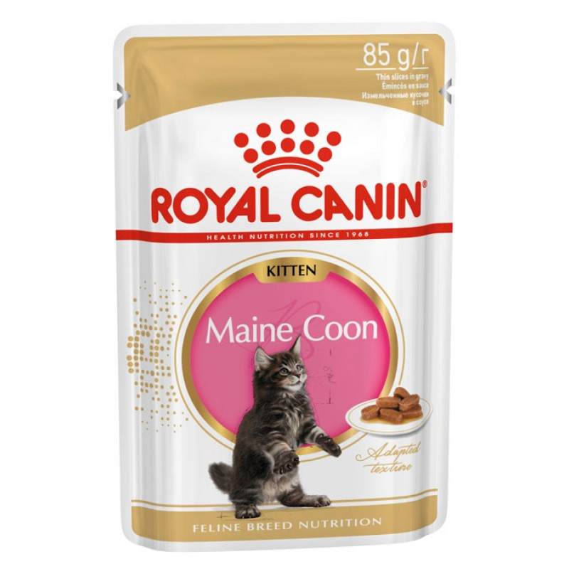 Влажный корм для котят Royal Canin Maine Coon Kitten соус 0,085 кг
