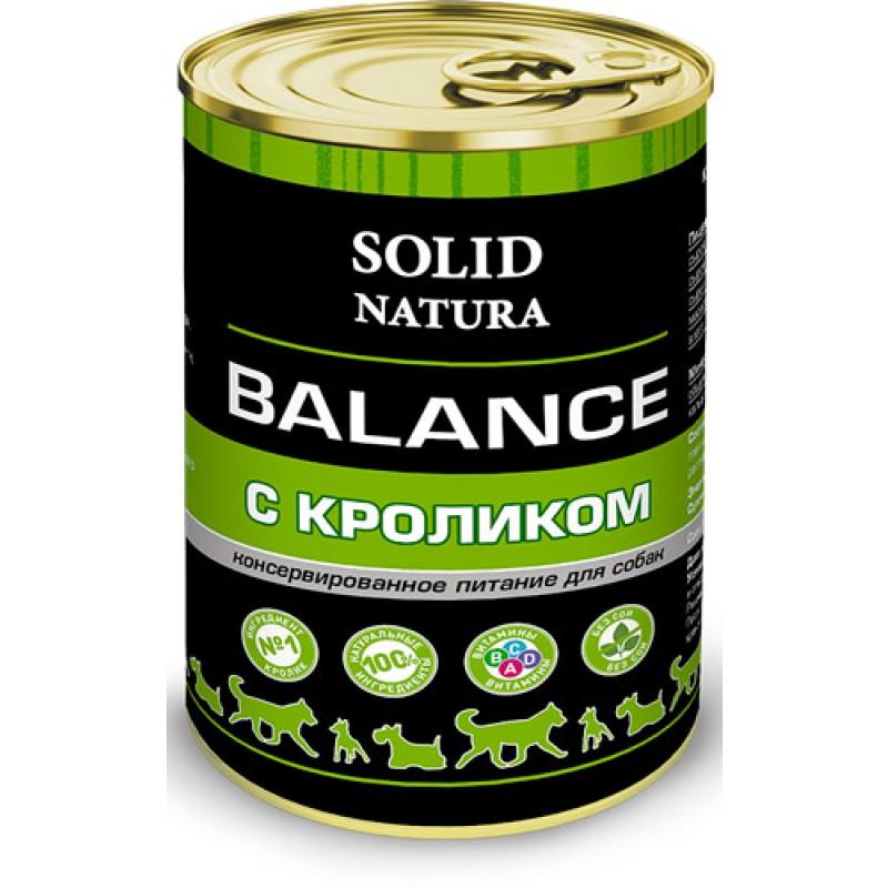 Влажный корм для собак Solid Natura Balance Кролик 0,34 кг