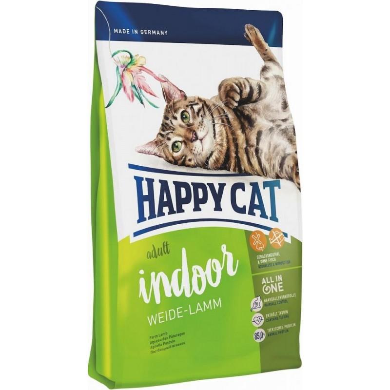 Сухой корм для кошек Happy Cat SAdult Indoor Weide-Lamm 10 кг