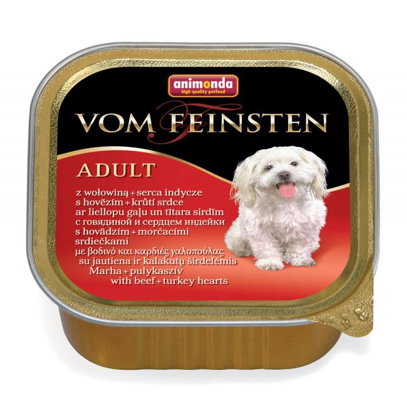 Влажный корм для собак Animonda Vom Feinsten Adult с говядиной и сердцем индейки 0,15 кг