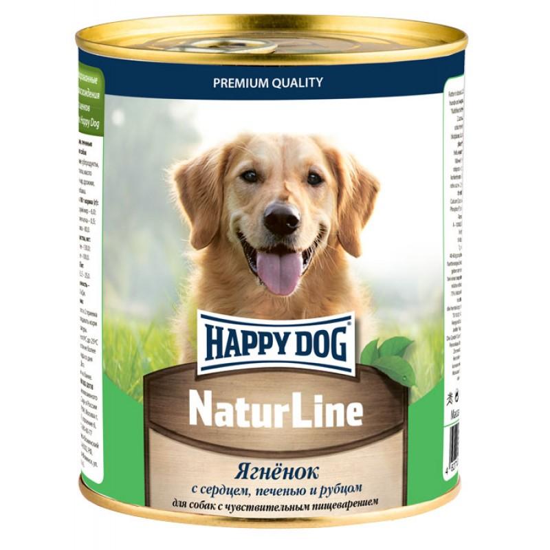 Влажный корм для собак Happy Dog Natur Line Ягненок с сердцем, печенью и рубцом 0,97 кг