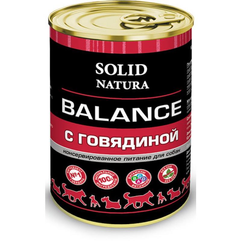Влажный корм для собак Solid Natura Balance Говядина 0,34 кг