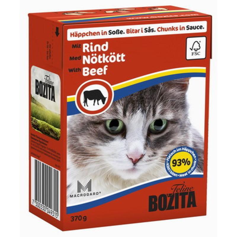 Влажный корм для кошек Bozita Feline Beef кусочки в соусе 0,37 кг