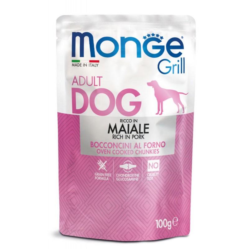 Влажный корм для собак Monge Grill Pouch свинина пауч 0,1 кг