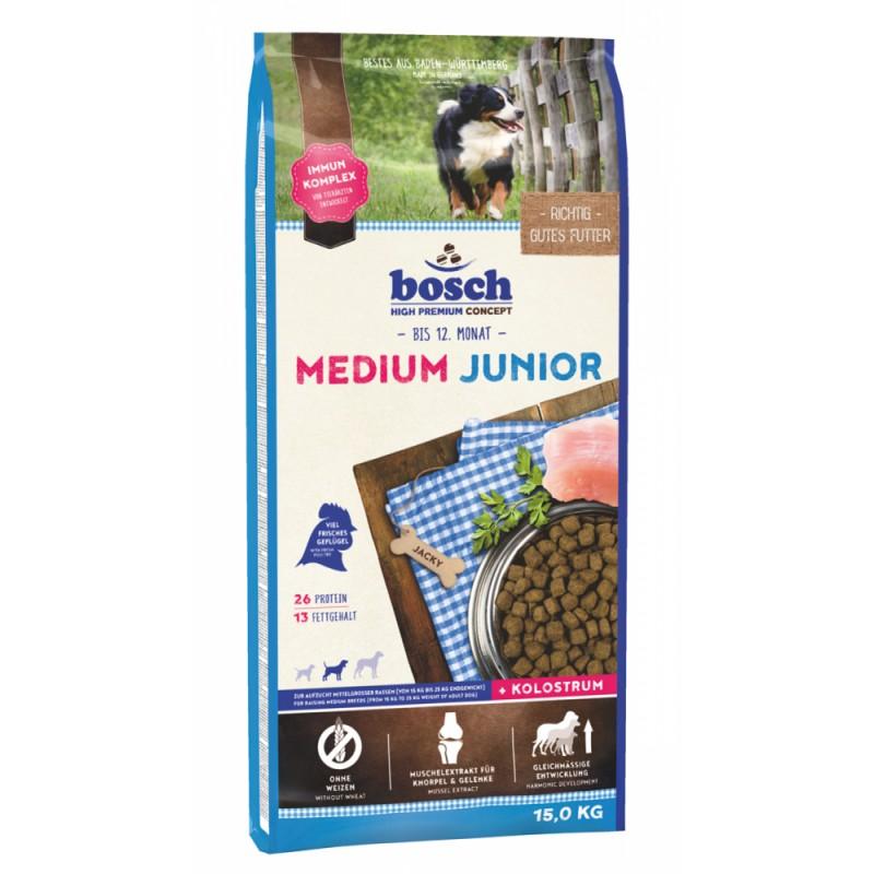 Сухой корм для щенков Bosch Medium Junior 15 кг
