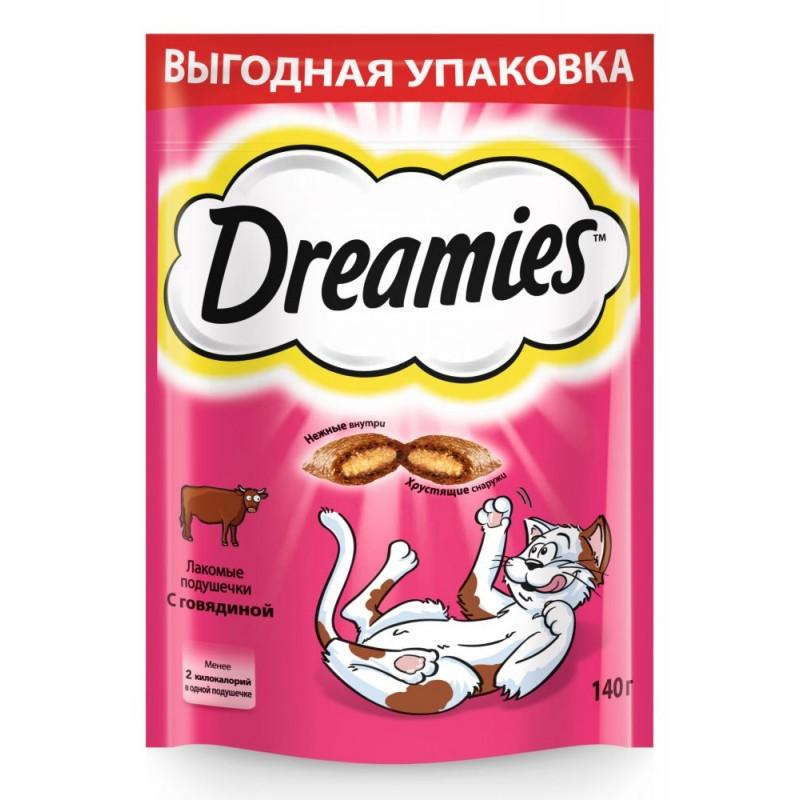 Лакомство для кошек Dreamies подушечки с говядиной 0,14 кг
