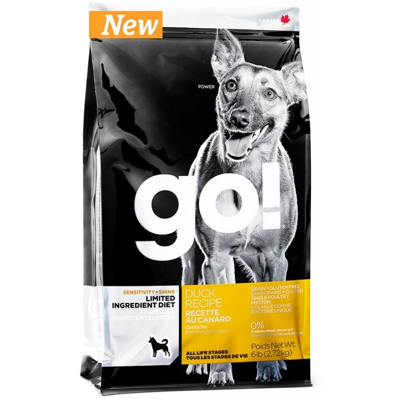 Сухой корм для собак Go! Sensitivity + Shine Duck Dog Recipe Limited Ingredient Diet Grain Free  2,72 кг