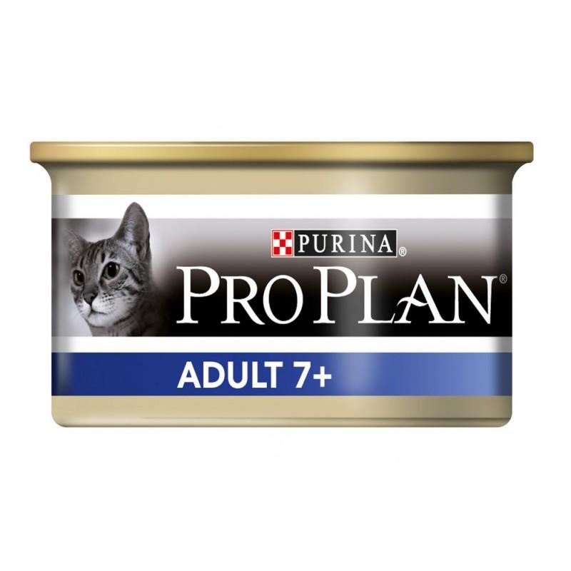 Влажный корм для кошек Purina Pro Plan Adult 7+ Feline with Tuna canned 0,085 кг