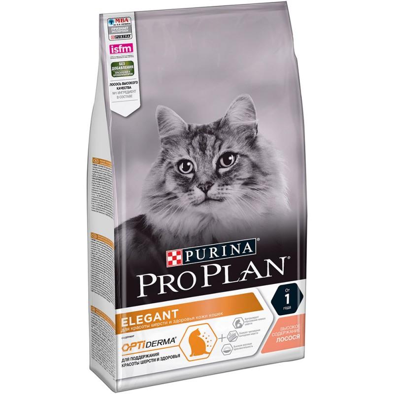 Сухой корм для кошек Purina Pro Plan Elegant Plus Feline Salmon 0,4 кг