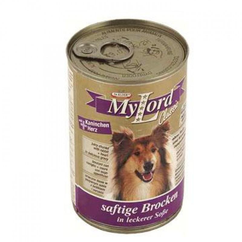 Влажный корм для собак Dr Alders Мой Лорд Классик кусочки в желе кролик с сердцем 1,24 кг