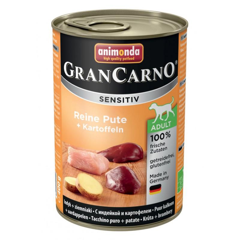 Влажный корм для собак Animonda GranCarno Sensitiv для чувствительных с индейкой и картофелем 0,4 кг