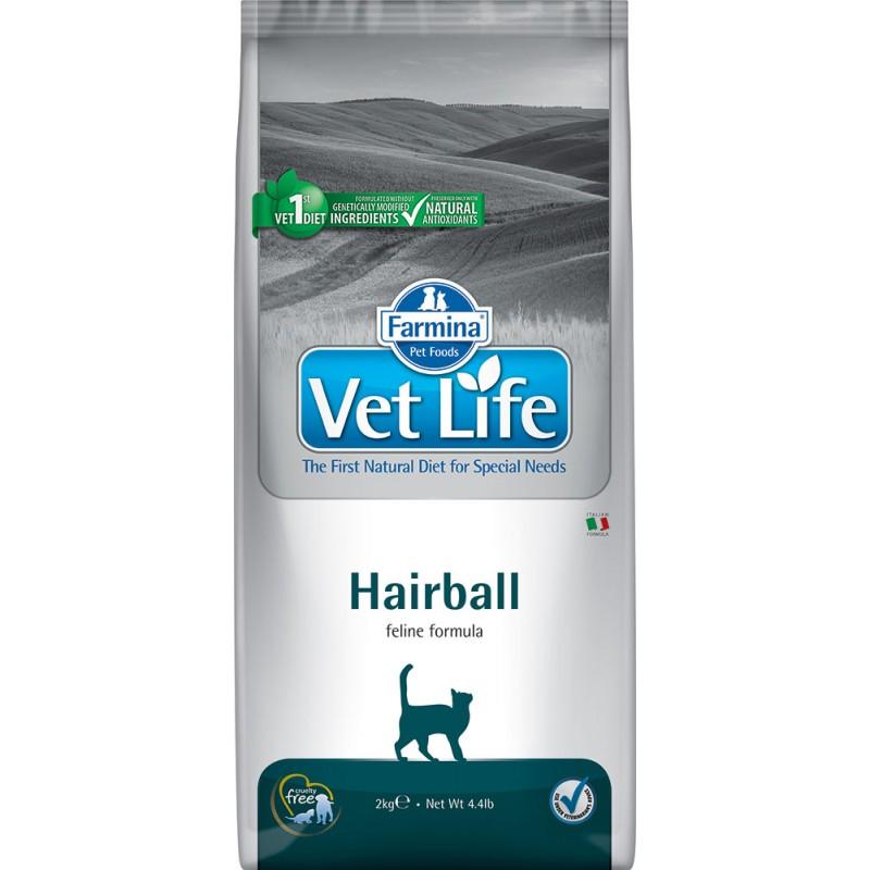 Сухой корм Farmina VET LIFE Feline Hairball диета для кошек 2 кг
