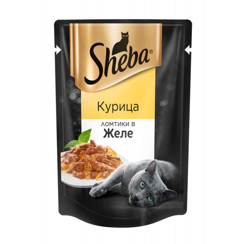 Влажный корм для кошек Sheba с курицей в желе пауч 0,85 кг