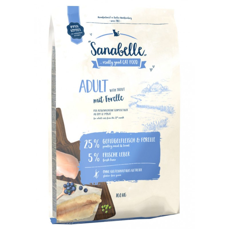 Сухой корм для кошек Sanabelle Adult with Trout 10 кг