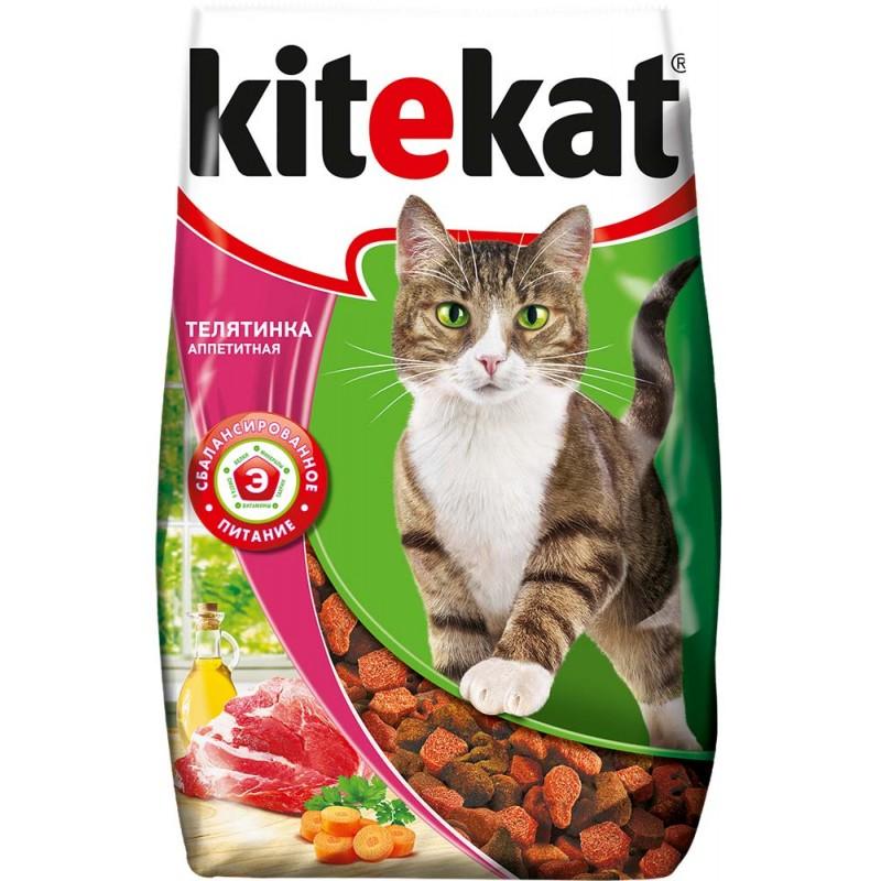 Сухой корм для кошек Kitekat Аппетитная телятинка 15 кг