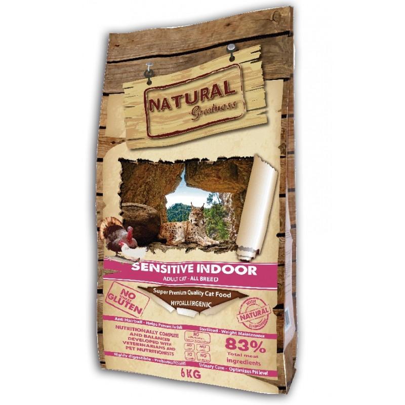 Сухой корм для кошек Natural Greatness Sensitive Indoor Recipe 6 кг