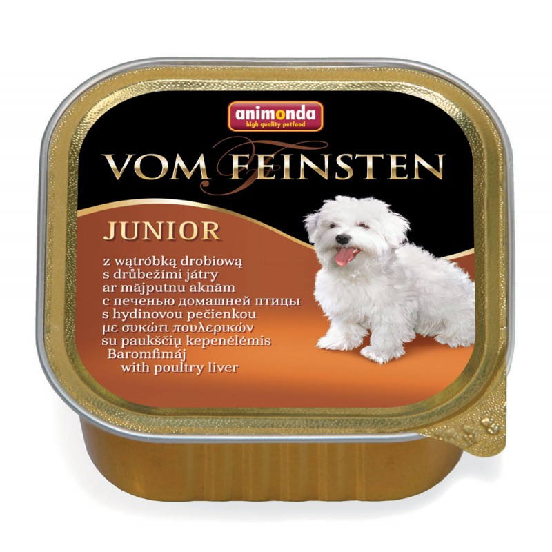 Влажный корм для собак Animonda Vom Feinsten Junior с печенью домашней птицы 0,15 кг