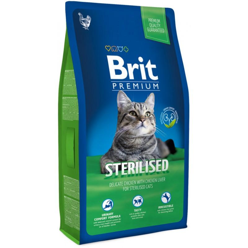 Сухой корм для кошек Brit Premium Cat Sterilised 8 кг