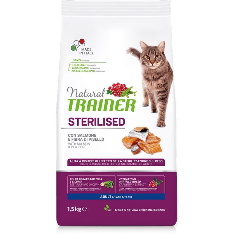 Сухой корм для кошек Trainer Natural Adult Sterilised Salmon 10 кг