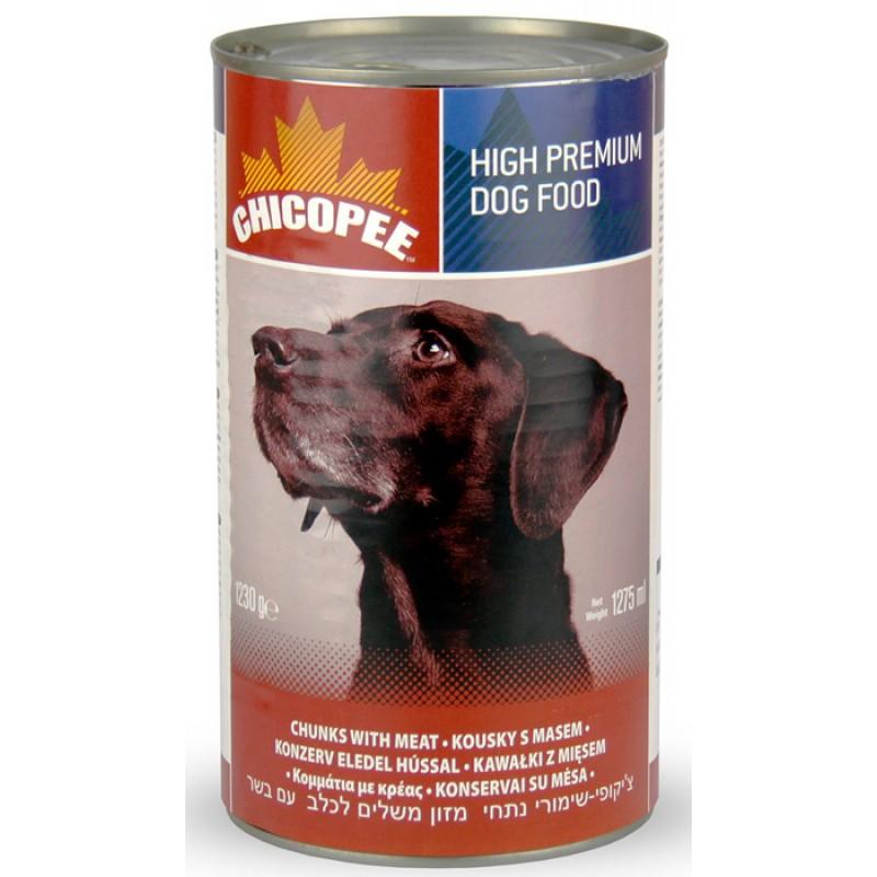 Влажный корм для собак Chicopee Chunks с кусочками говядины в соусе 1,23 кг