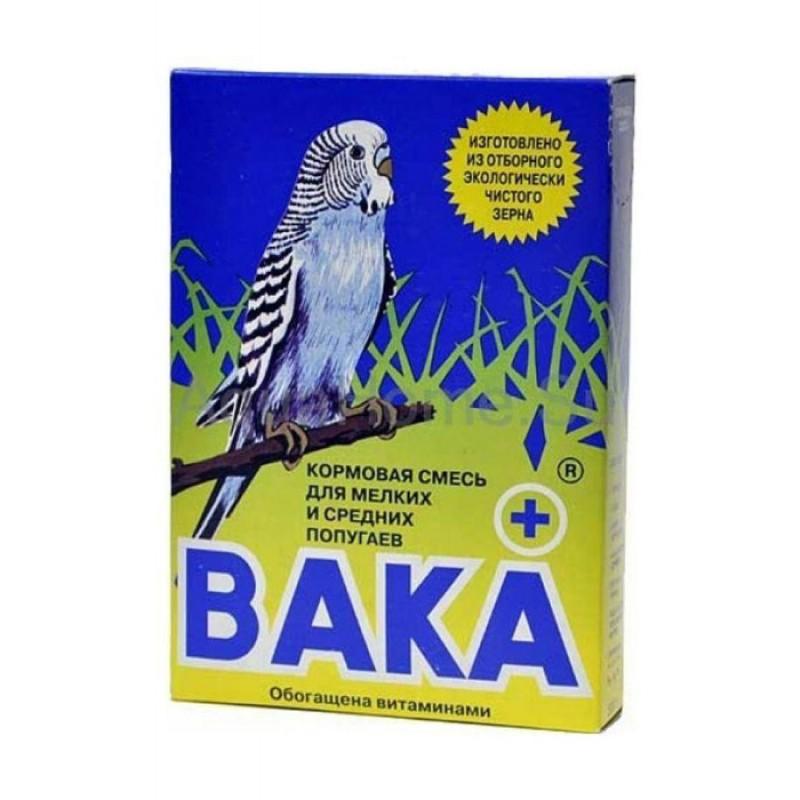 Сухой корм для птиц Вака Плюс Плюс кормовая смесь для мелких и средних попугаев 0,5 кг