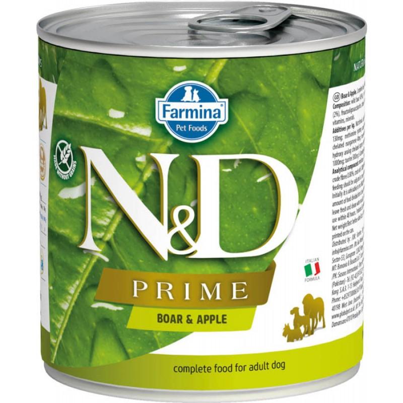 Влажный корм для собак Farmina N & D Prime Boar & Apple с кабаном и яблоком 0,285 кг
