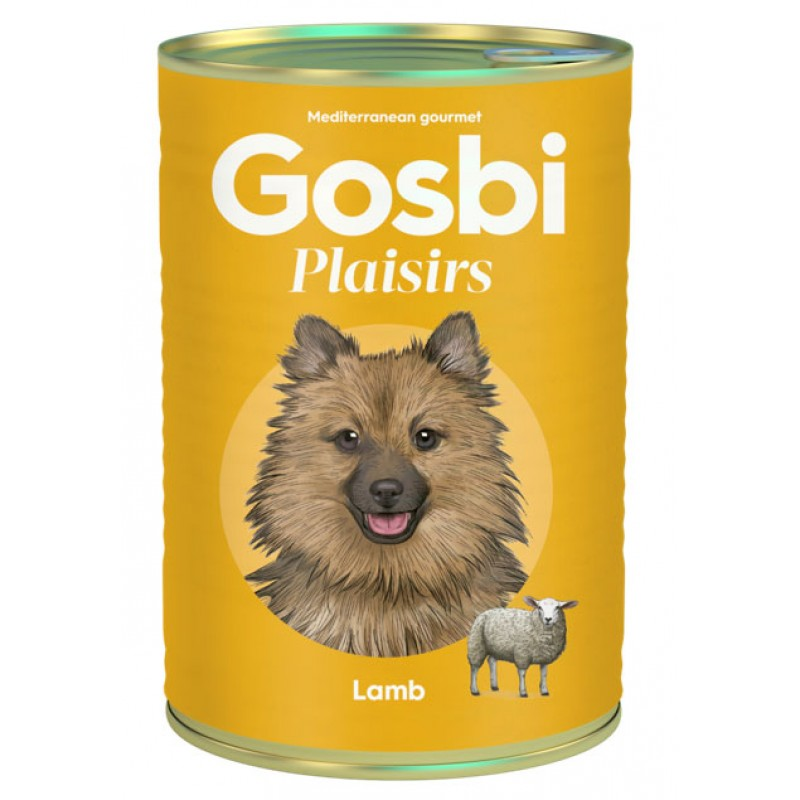 Влажный корм для собак Gosbi Plaisirs Lamb с ягненком 0,4 кг