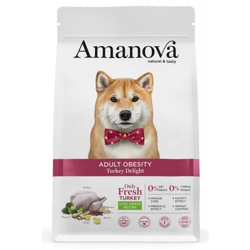 Сухой корм для собак Amanova Adult Obesity с дивной индейкой при избыточном весе  10 кг