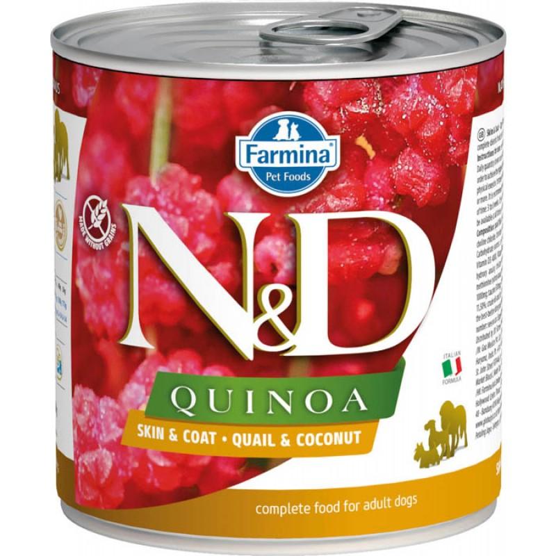 Влажный корм для собак Farmina N & D Quinoa Quail & Coconut с перепелкой, киноа и кокосом 0,285 кг