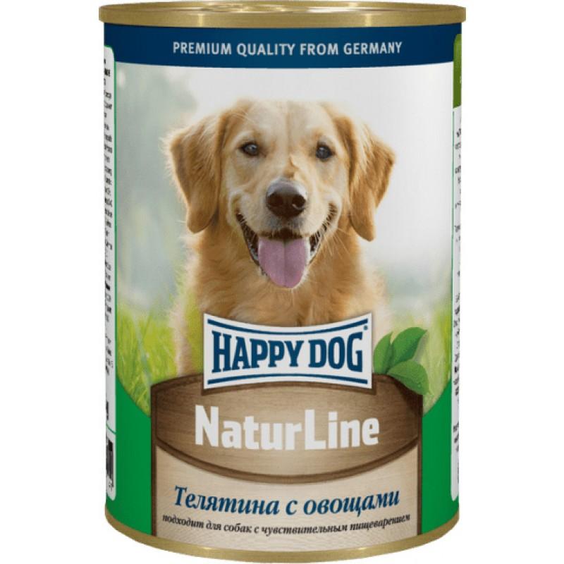 Влажный корм для собак Happy Dog телятина с овощами 0,4 кг
