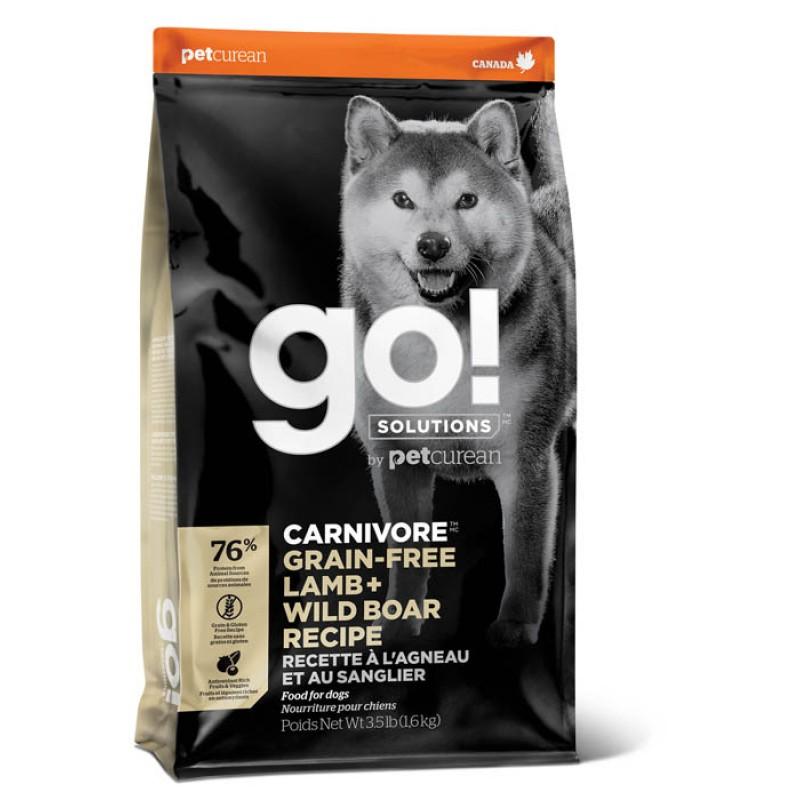 Сухой корм для собак Go! Lamb + Wild Boar Recipe с ягненком и диким кабаном 5,45 кг