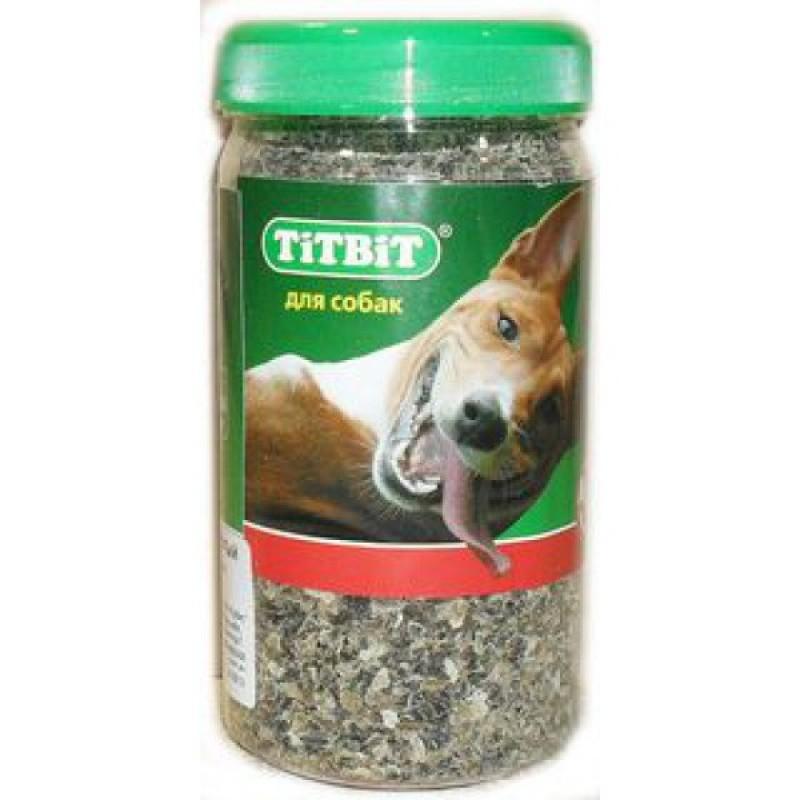 Лакомство для собак Titbit Рубец говяжий молотый - банка пласт. 0,35 л 0,15 кг