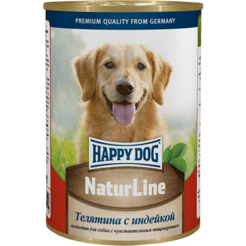 Влажный корм для собак Happy Dog телятина с индейкой 0,41 кг