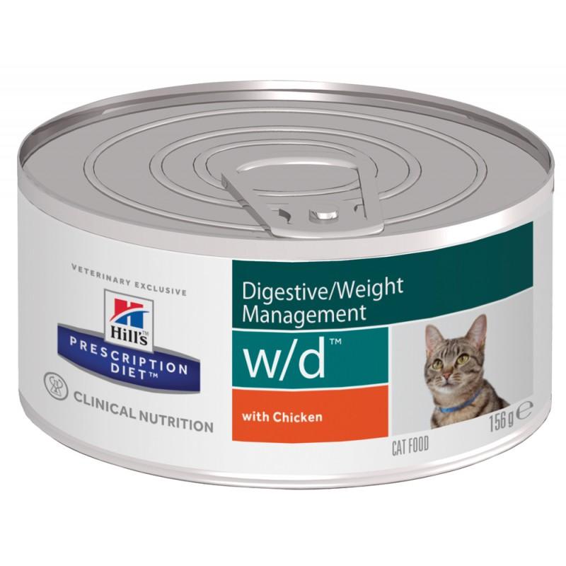 Влажный корм Hills Prescription Diet w/d Feline Canned диета для кошек 0,156 кг