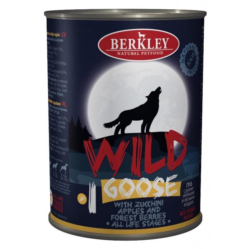 Влажный корм для собак Berkley Гусь с цукини яблоками и лесными ягодами №1 0,4 кг
