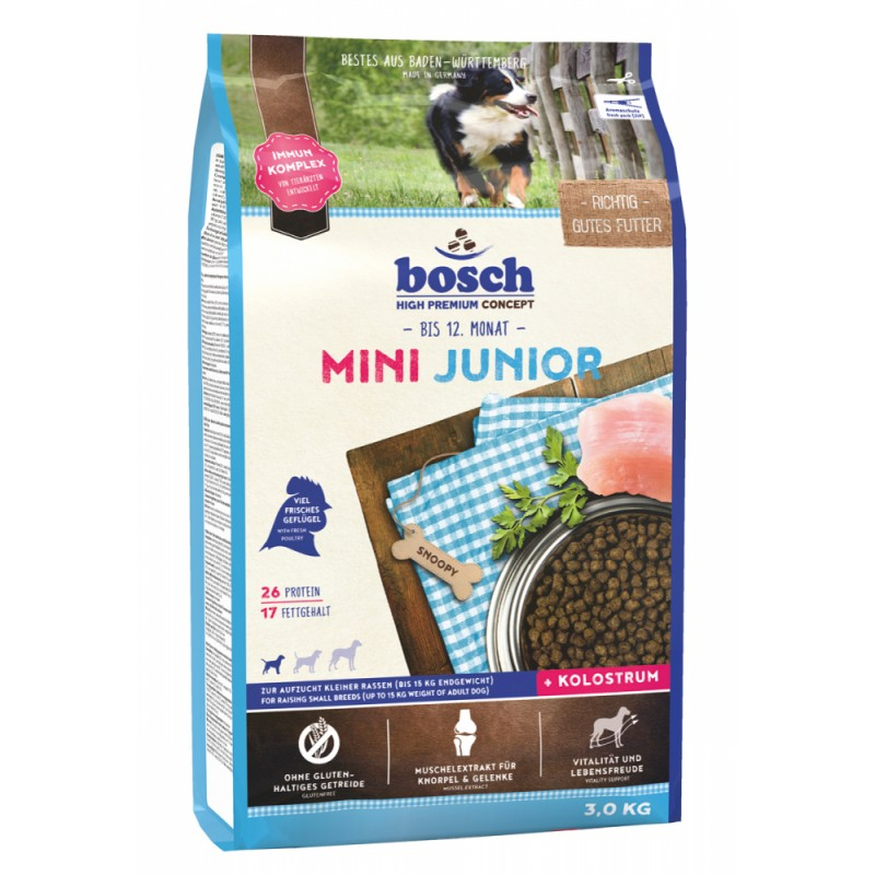Сухой корм для щенков Bosch Mini Junior 3 кг