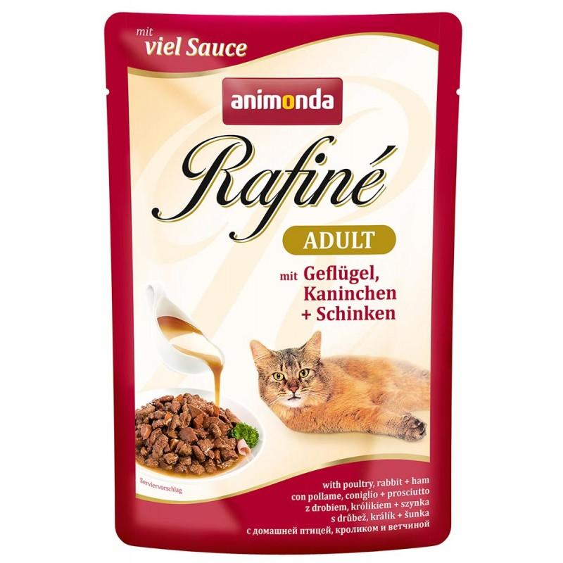 Влажный корм для кошек Animonda Rafine Soupe Adult пауч коктейль из мяса птицы кролика и ветчины 0,1 кг
