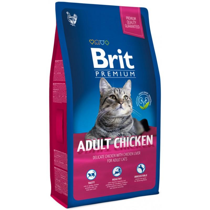 Сухой корм для кошек Brit Premium Cat Adult Chicken 1,5 кг