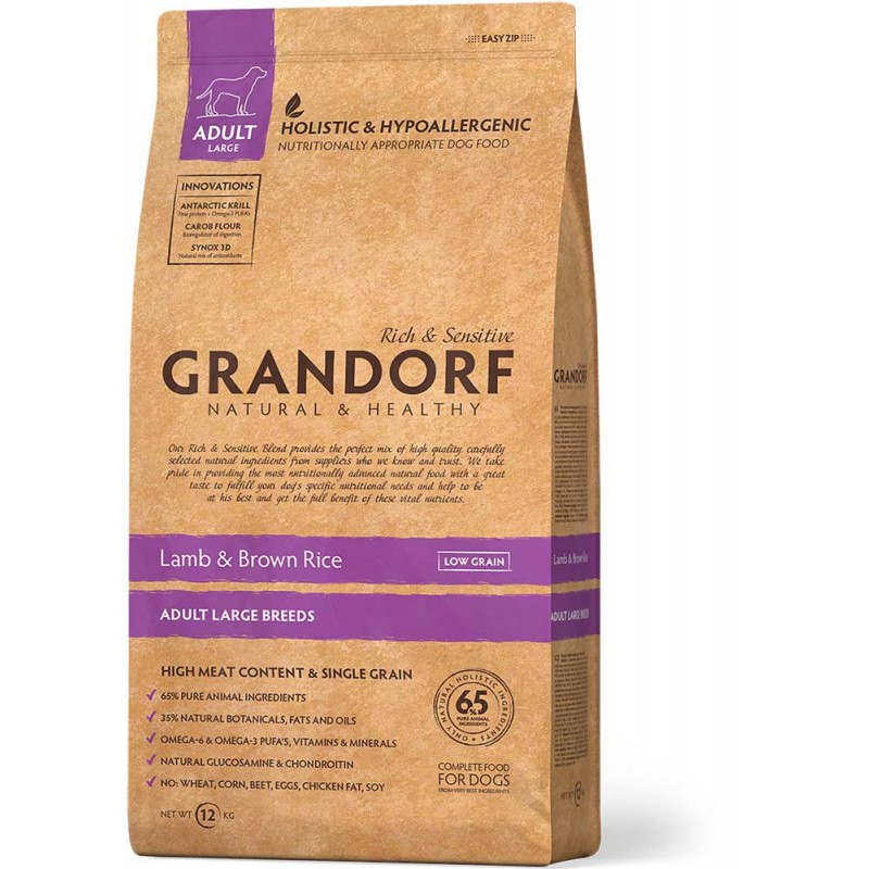 Сухой корм для собак Grandorf Maxi Lamb&Rice 12 кг
