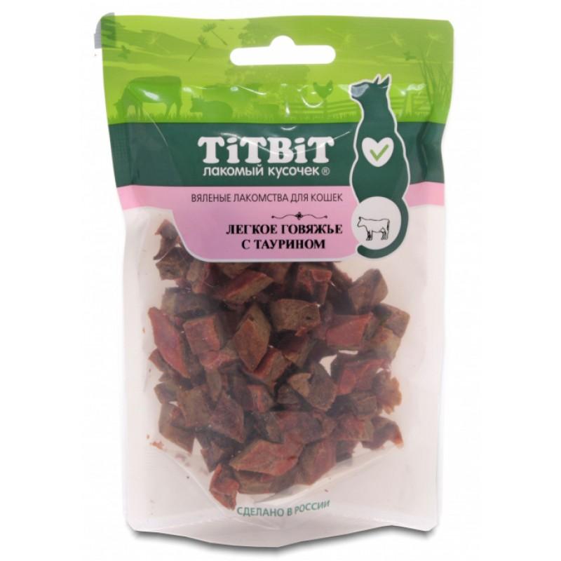 Лакомство для кошек Titbit Легкое говяжье с таурином 0,025 кг