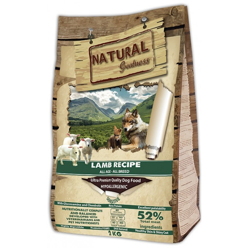 Сухой корм для собак Natural Greatness Lamb Recipe Sensitive 2 кг
