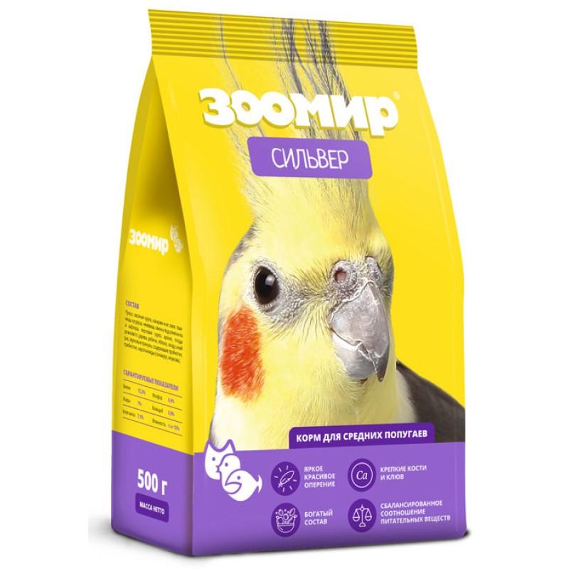 Сухой корм для средних попугаев Зоомир