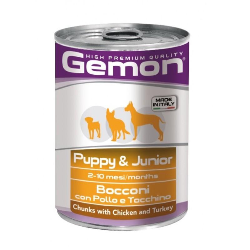 Влажный корм для щенков Gemon Dog кусочки курицы с индейкой 0,415 кг