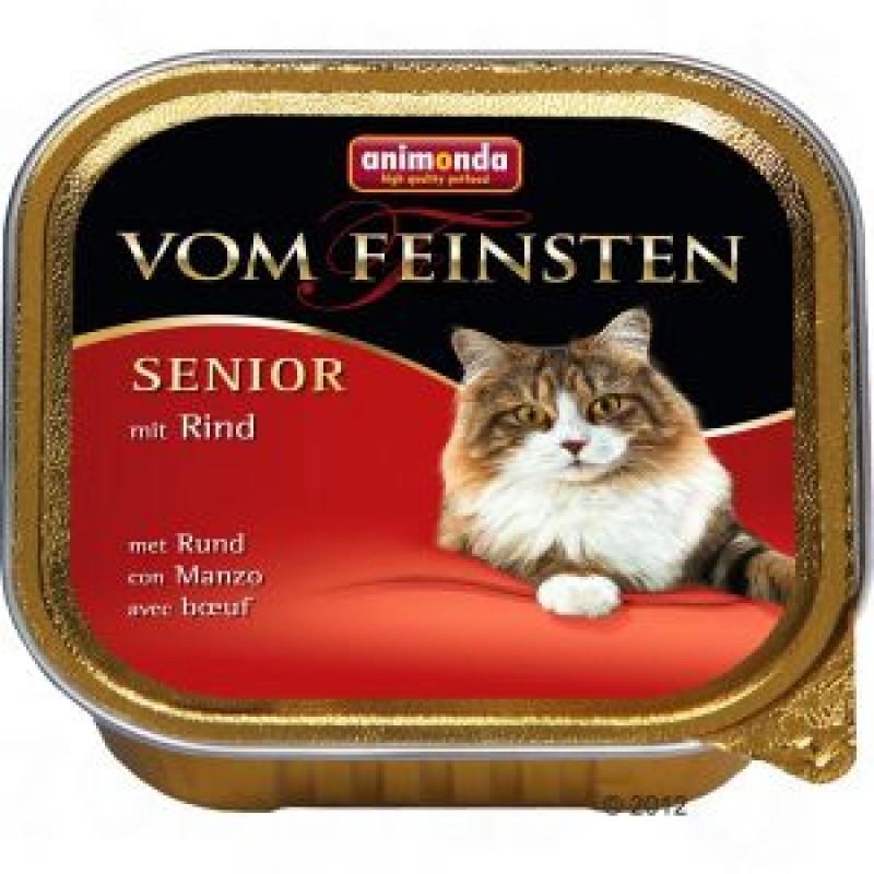 Влажный корм для кошек Animonda Vom Feinsten Senior с говядиной 0,1 кг